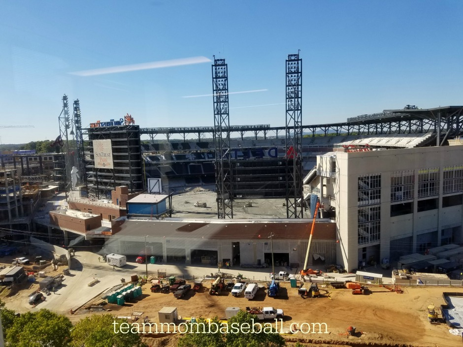The Beautiful SunTrust Park from the Preview Center located across the street.
